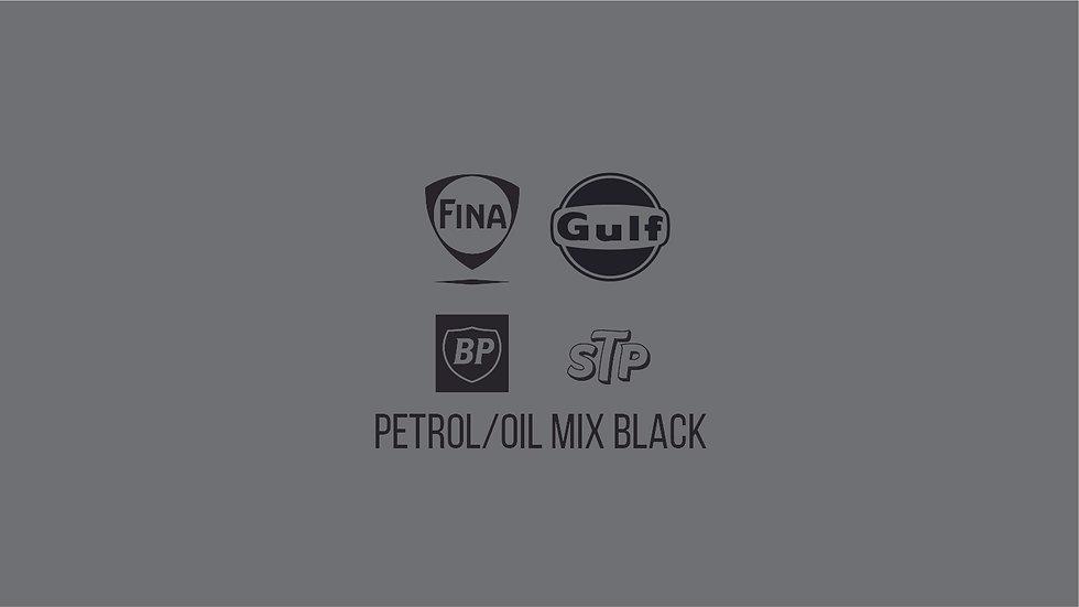 PETROLEUM / OIL BRANDS BLACK MIX Waterslide Decal Sheet