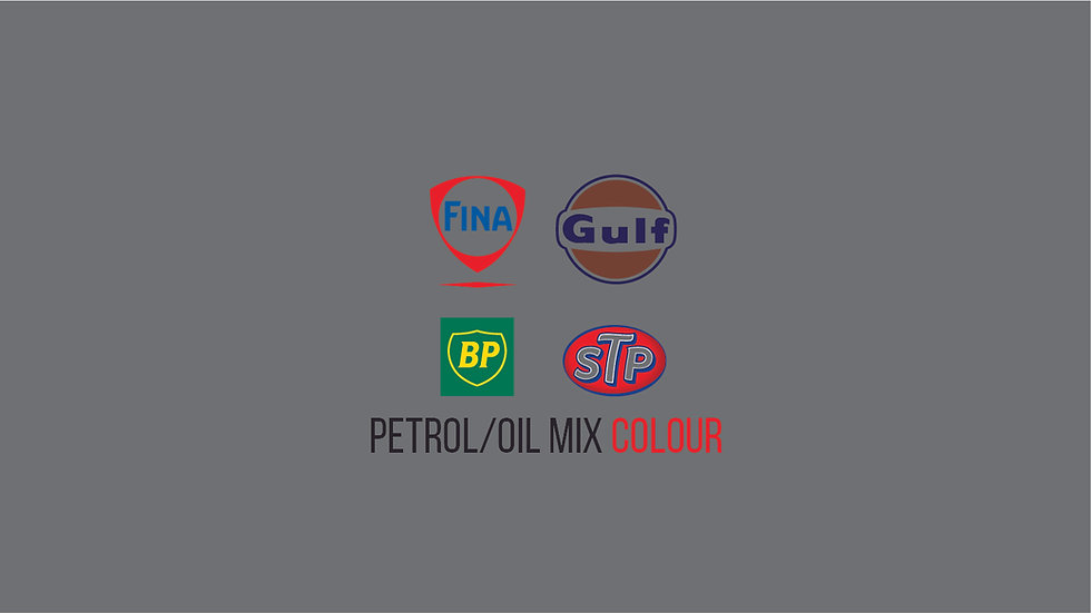 PETROLEUM / OIL BRANDS COLOUR MIX Waterslide Decal Sheet