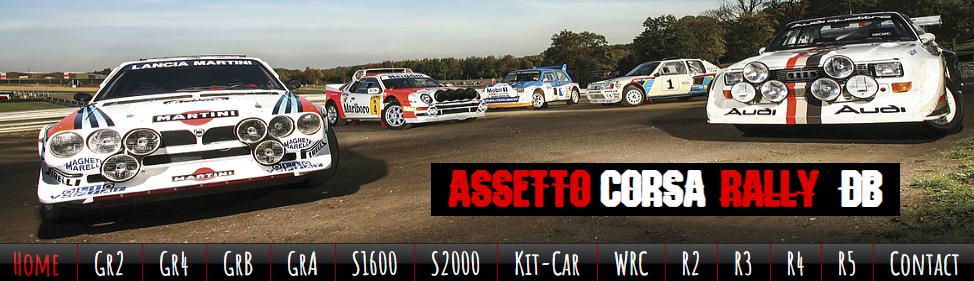 assetto corsa rally car r5 r4 r3 r2 Gr 2 4 B kit car s2000
