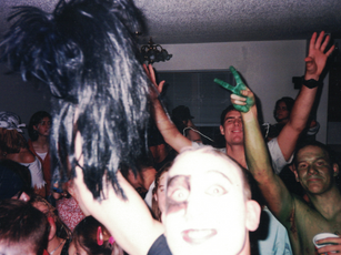 Halloween 1998, one of the many house parties at the Hwy 30 apartments