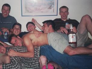 Junior year in Scott Larsen's apartment