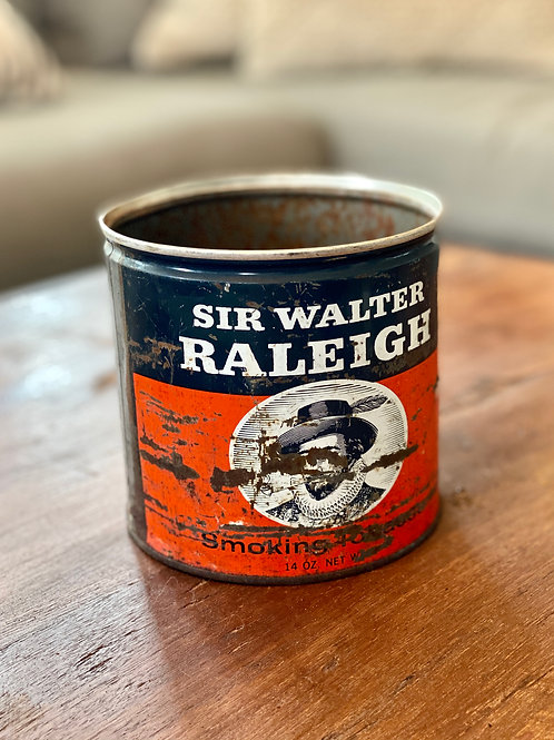 Vintage Sir Walter Raleigh Tobacco Tin