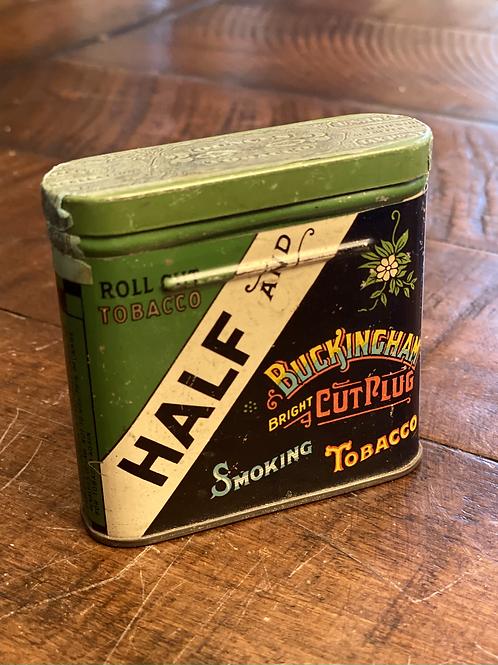 Antique Half and Half Pocket Tin