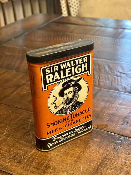 Antique Sir Walter Raleigh Pocket Tin