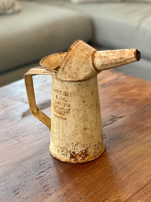 Vintage Yellow Oil Can
