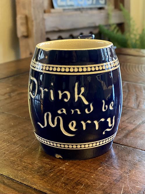 Vintage Drink & Be Merry Stein Mug