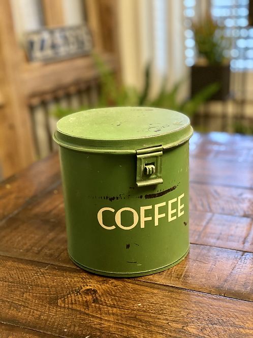 Vintage Green Coffee Canister