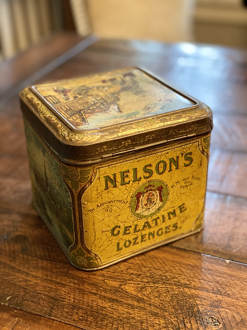Antique Hinged Nelson's Lozenges Tin