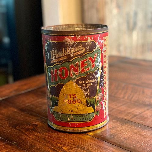 Large Antique Bradshaus Honey Tin