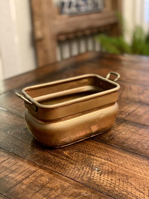 Antique Copper Rectangular Vessel