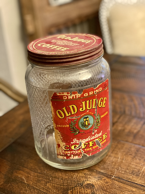 Large Old Judge Coffee Canister