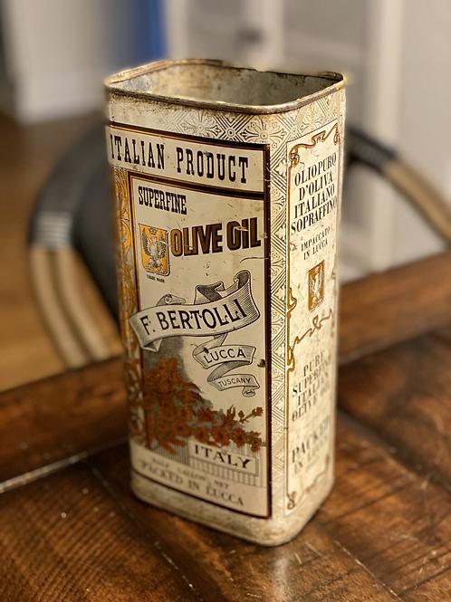 Large Vintage Bertolli Olive Oil Tin