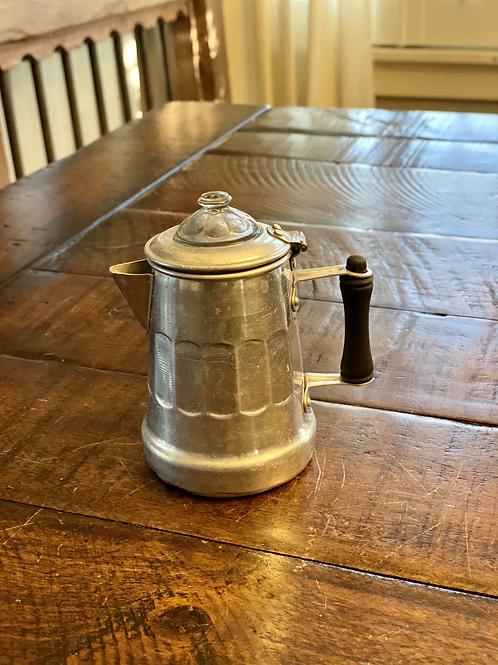 Vintage Tin Scalloped Teapot