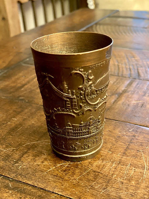 Antique European Iron Etched Cup