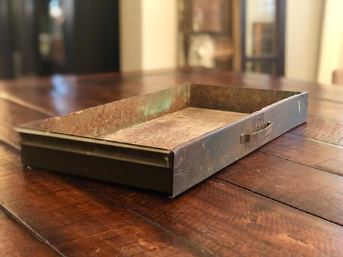 Old Metal Rusty Drawer
