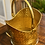 Thumbnail: Antique Hammered Brass Coal Scuttle