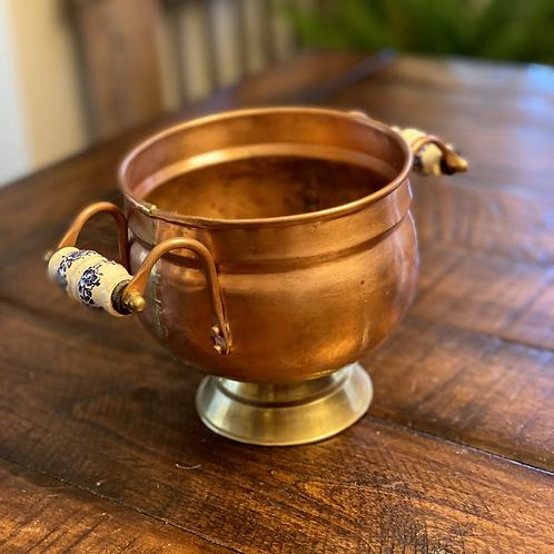 Antique Copper Double Handle Bowl