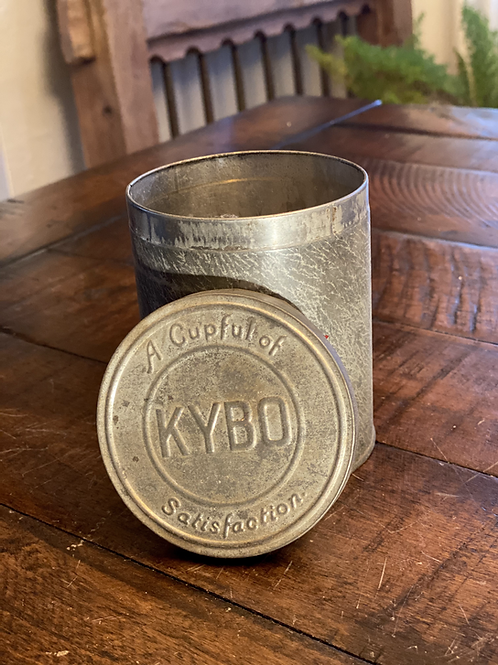 Vintage KYBO Coffee Tin