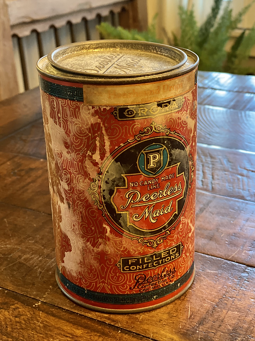Vintage Peerless Confections Tin