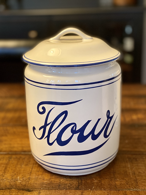 Vintage Ceramic Flour Canister