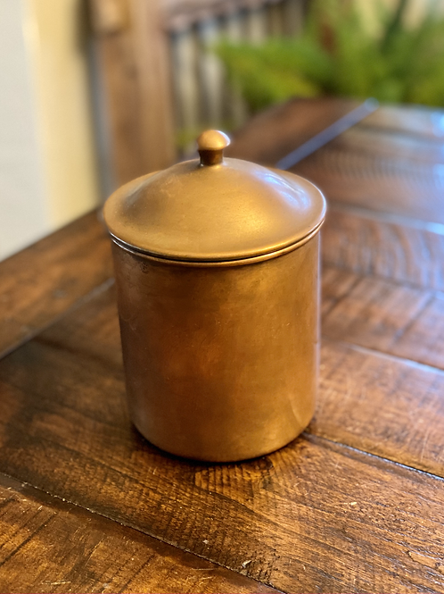 Antique Copper Canister