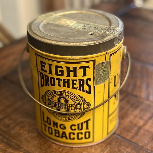 RARE Eight Brothers Tobacco Tin