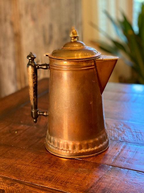 Antique Copper Coffee Kettle