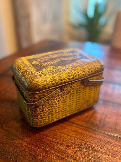 Antique Sensation Tobacco Hinged Tin