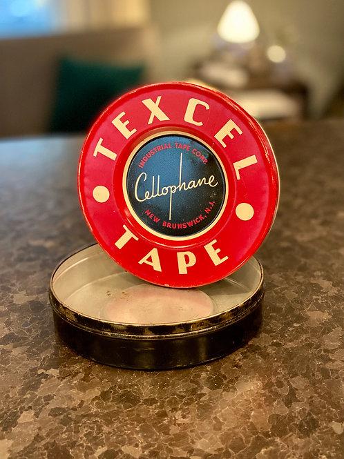 Vintage Texcel Tape Tin