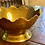 Thumbnail: Antique Brass Scalloped Footed Bowl