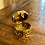Thumbnail: Antique Mini Hexagon Brass Cricket Box