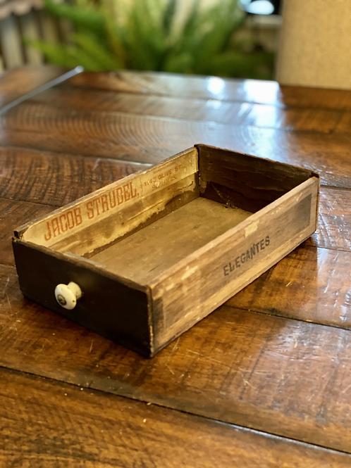 Vintage Wood Cigar Box Drawer