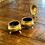 Thumbnail: Pair of Antique Brass Salt & Pepper Vessels
