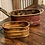Thumbnail: Antique Solid Copper Ribbed Handled Bowl
