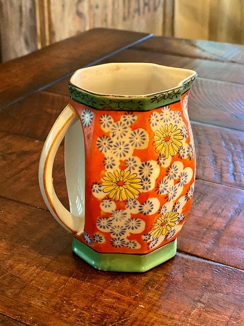 Vintage Ceramic Flower Pitcher