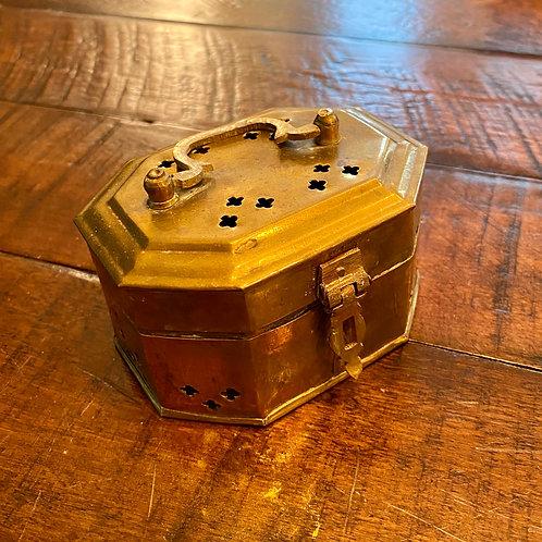 Small Brass Octogan Cricket Box