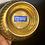 Thumbnail: Antique Brass Ribbed Bowl