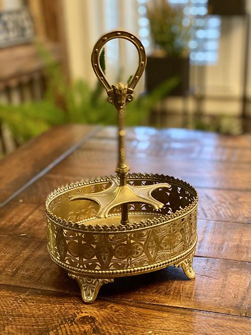 Antique Brass Pipe Holder