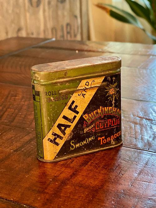 Antique Half & Half Tobacco Tin