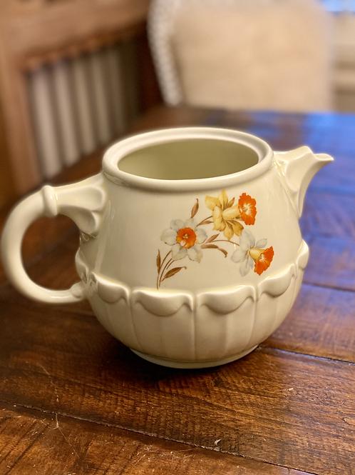 Antique Ceramic Flower Pitcher