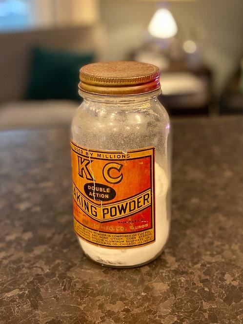 Vintage KC Baking Powder Jar