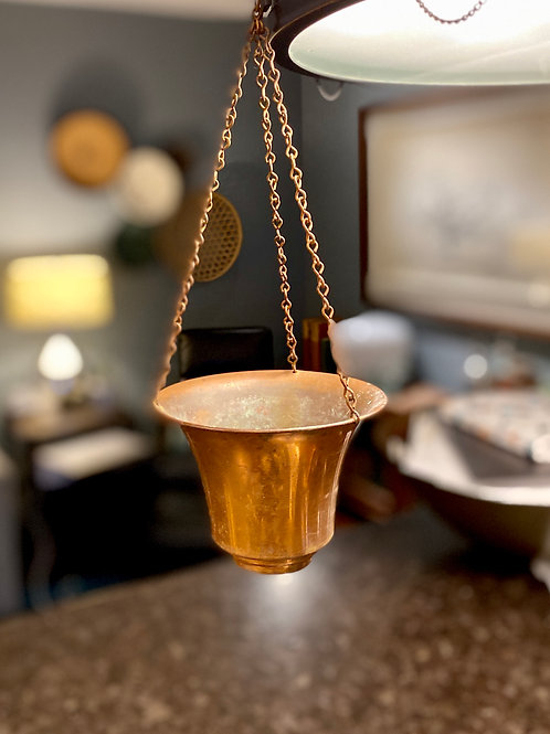 Antique Copper Hanging Planter