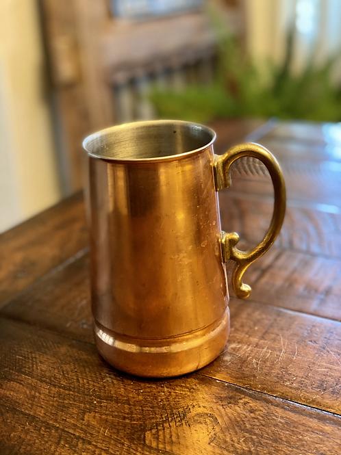 Antique Copper and Brass Mug