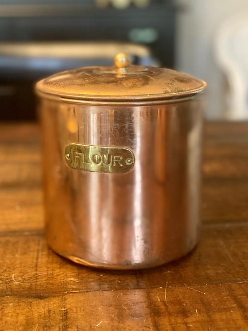 Vintage Copper Flour Canister