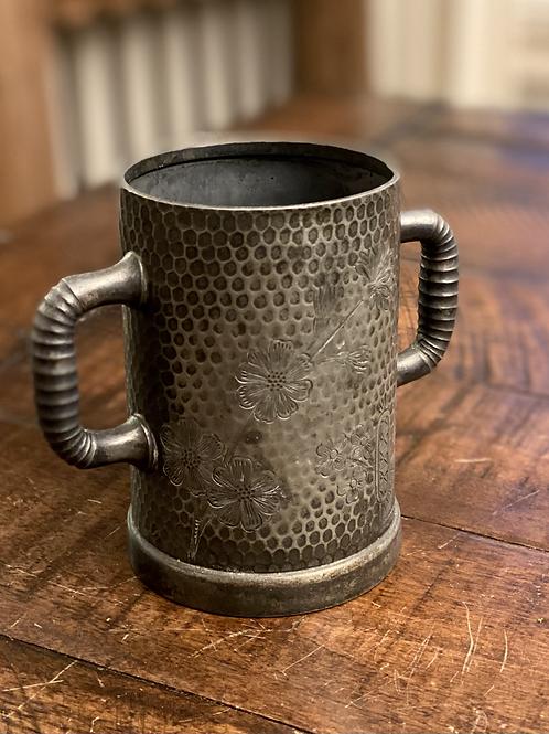 RARE Quadruple Silver Plated Primitive Cup