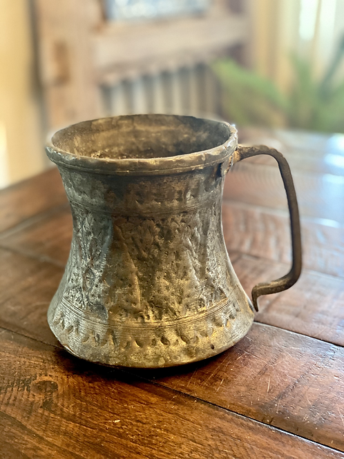 Primitive Etched Hand-Forged Vessel
