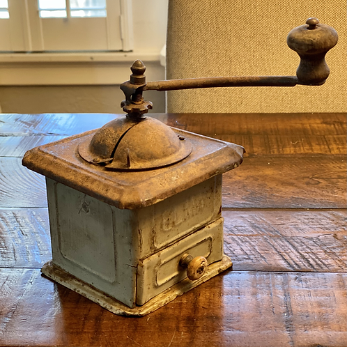 Antique Metal & Wood Coffee Grinder