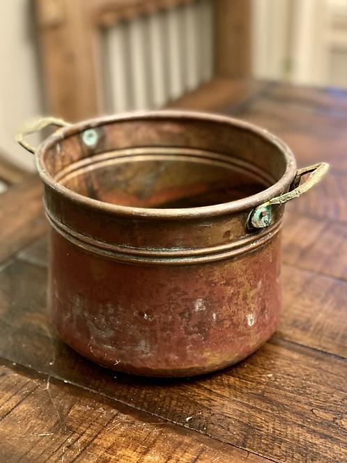 Antique Solid Copper Cauldron