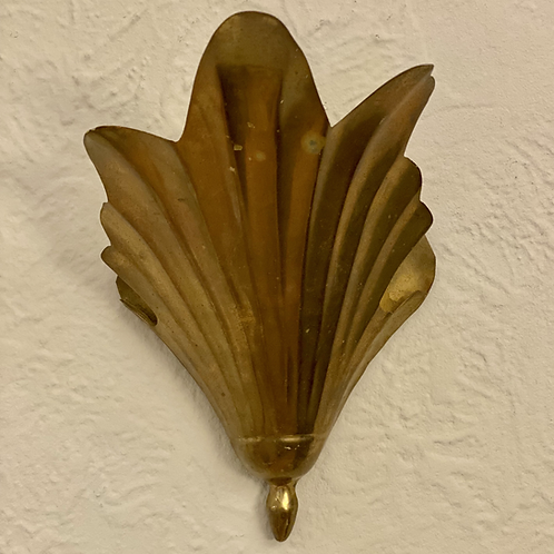 Midcentury Brass Wall Sconce