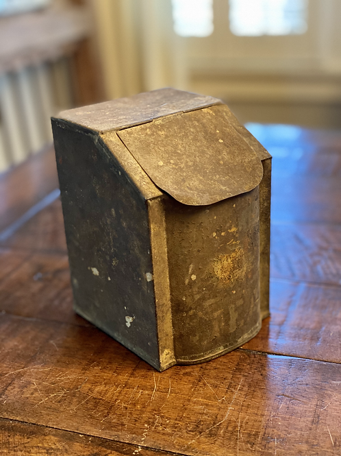Antique Tea Hinged Canister